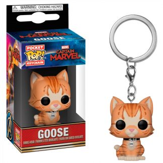 Llavero Pocket POP Marvel Capitana Marvel Goose the Cat
