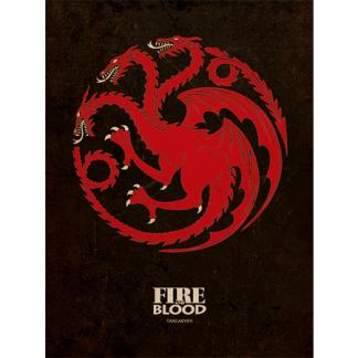 Cuadro Canvas Juego De Tronos Targaryen 30x40