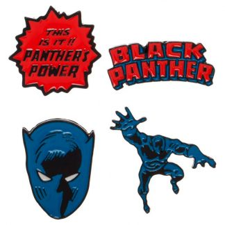 Set 4 pin Black Panther Marvel