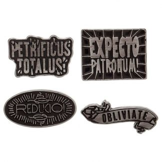 Set 4 pin hechizos Harry Potter