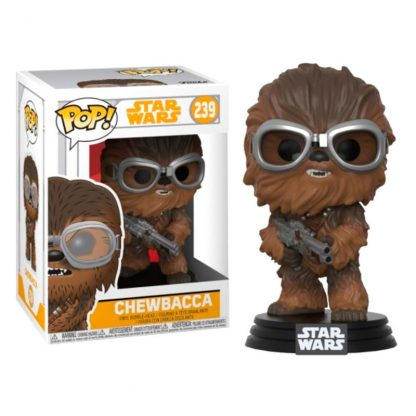 Figura POP Star Wars Solo Chewbacca with Goggles Flocked Exclusive