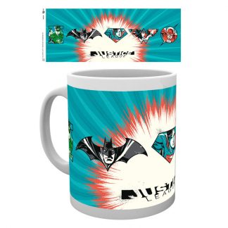 Taza Justice League Badges DC