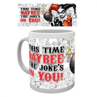 Taza Batman cómic Harley Quinn Jokes on You