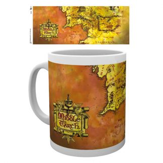 Taza Lord of the Rings Map