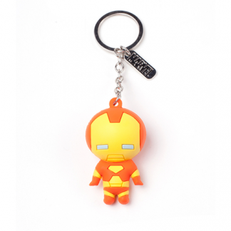 Llavero Marvel Rubber Iron Man 3d