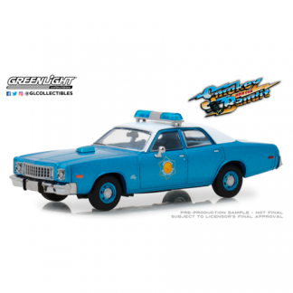 "Plymouth Fury Arkansas State Police ""Smokey and the Bandit"" (1975) Greenlight 1/43"