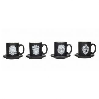 Set mini tazas espresso emblemas Harry Potter
