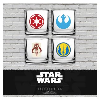Set 4 vasos emblemas Star Wars