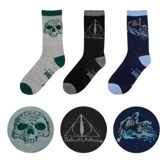 Set 3 calcetines Deathly Hallows Harry Potter