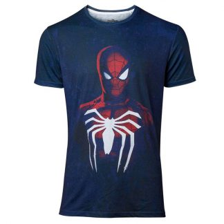 Camiseta hombre PS4 Spiderman Marvel