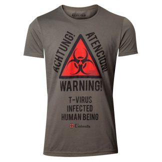 Camiseta Biohazard Warning Resident Evil