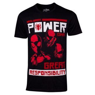 Camiseta Power vs Responsibility Spiderman Marvel