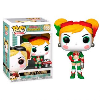 Figura POP DC Cómics Bombshell Harley Quinn Holiday Exclusive