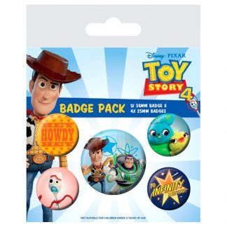 Set 5 chapas Toy Story 4 Disney Pixar