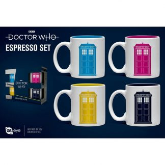 Set taza espresso Doctor Who