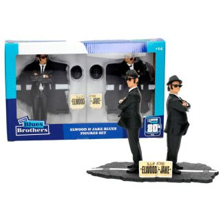 Pack 2 figuras Jake and Elwood Blues Brothers 18cm