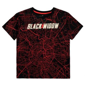 Camiseta mujer City Map Black Widow Marvel