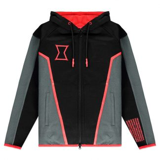Sudadera capucha mujer Technical Black Widow Marvel