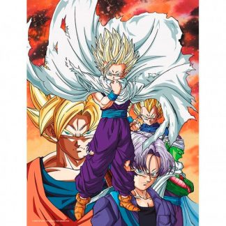 Poster cristal Heroes vs Cell Dragon Ball Z