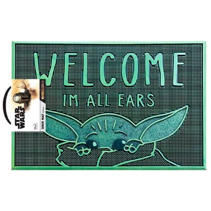 Felpudo Welcome Im All Ears Yoda The Child Star Wars The Mandalorian
